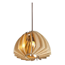 ParrotUncle - Wooden Paper Propeller Home Pendant Lamp - Wooden Paper Propeller Home Pendant Lamp