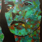 Portrait by Mimi Gravel - Large format artwork - Mainly mixed medium on birch panel or canvas.