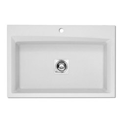 Pegasus - Pegasus WC10WH Single Basin Drop In/Undermount Kitchen Sink Multicolor - 429033 - Shop for Kitchen from Hayneedle.com! Clean lines and subtle details make the Pegasus WC10WH Single Basin Drop In/Undermount Kitchen Sink a stunning modern addition to your kitchen set. It's made to take on scratches stains and heat with ease from a durable composite of natural granite quartz in a stunning white. The oversized basins ensures that you'll have ample room to keep things cooking along smoothly in your kitchen. About Pegasus Think Pegasus when it comes to kitchen or bath needs. Pegasus is widely known for their signature faucets unique bath accessories and furniture vanities mirrors pedestal sinks toilets and kitchen sinks. Pegasus offers special collections featuring products that coordinate with an elegant yet sophisticated style. With designs spanning from tasteful and traditional to streamlined and contemporary Pegasus provides high-quality products and fixtures for a reasonable cost and promotes the philosophy of luxury without the extravagance.Note that Pegasus faucets feature a premium ceramic disc cartridge and lever handles that operate smoothly and comfortably for maintenance-free performance have durable finishes that will not flake rust or tarnish fit into any type of countertop and include an internal stop valve and pressure-balance engineering for shower faucets. Pegasus products are manufactured to strict company and national standards and are approved by the International Association of Plumbing Manufacturers Organization and certified for installation in new existing or commercial applications.