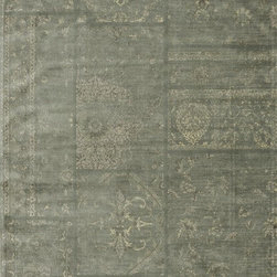 Loloi Rugs - Loloi Rugs NYLANY-13MI0092C2 Nyla Mist Traditional Power Loomed Rug - The power-loomed Nyla Collection from Egypt offers a range of subtle, sophisticated looks that enhance an interior space at a value-driven price. Made of 100% viscose, Nyla features soft color combinations with touches of mocha, plum, and mist throughout the selection.