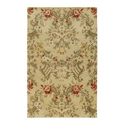 """Kaleen - Kaleen Magi Collection 7203-42 3'6""""X5'3"""" Linen - Magi is a stunning collection of  run off  designs.  Elegantly understated and timeless designs produced from the finest washed 100% Virgin Wool.  Hand Made with pride by Kaleen's own artisans in India."""