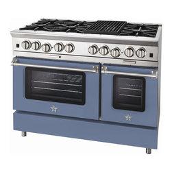 "BlueStar Platinum Series: 48"" Range - 48"" BlueStar Platinum Range in Pigeon Blue (RAL 5014)"