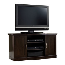 Sauder - Sauder Select TV Stand Credenza in Cinnamon Cherry - Sauder - TV Stands - 410176 -