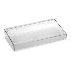 Azar Displays - Azar Pegboard System 16-Inch Plastic Tray - Plastic tray with U-hooks for easy attachment to the Azar pegboard system or other pegboards.