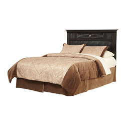 Standard Furniture - Standard Furniture Portia Headboard in Faux Alligator and Black - Full/Queen - Portia has an upscale designer persona with its classically inspired styling accented with textured faux alligator surfaces, and rendered in a fashionable black finish.