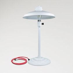 The Maritime Retro Desk Lamp - This handsome desk light incorporates the sleek styling of a mid century table lamp with our saucer shade. Maritime Retro Desk Lamp will add 1940s style to your home or business office.