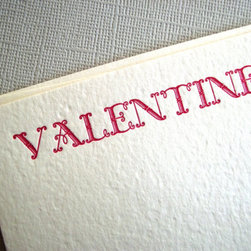 Letterpress Valentine Love Note by The Polite Fox - To me, out of everything, the card is the best gift you can receive. These handmade cards really say special delivery to me.