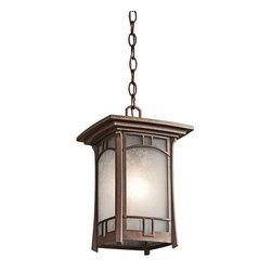 Kichler - Kichler 49452AGZ Soria Outdoor Pendant 1 Light In Aged Bronze - Technical Specs: