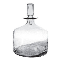 Lazy Susan - Lazy Susan 824018 Clear Decanter - Small - Better than crystal or diamonds, this shimmering clear glass decanter transforms natural light into pure bliss. Place it where it will capture the most light — windowsills are particularly charming — and see it sparkle all day long. Its modern lines and square stopper make it beautiful in shade as well as sun.