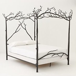 """Anthropologie - Forest Canopy Bed - Iron84""""HHandmade in USADue to the handmade nature of this item, appearance may vary slightly."""