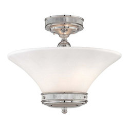 Minka-Lavery - Minka-Lavery Federal Restoration 2-Light Semi-Flush - 4277-77 - This 2-Light bowl semi-flush mount has a chrome finish and is part of the Federal Restoration Collection.