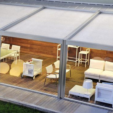 Corradi Pergotenda - The Corradi Pergotenda has a waterproof motorized roof and sides to give you complete control of any outdoor space!