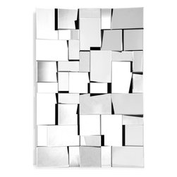 ZUO Modern - Fractal Mirror in Clear - 850003 - Fractal Collection Mirror