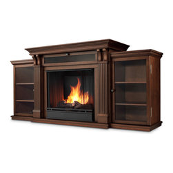 Dark Espresso Ashley Gel Fuel Fireplace & Entertainment ...