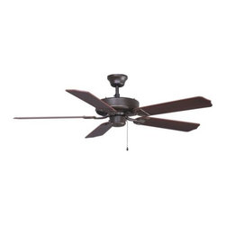 Fanimation - Fanimation Aire Decor Builder Outdoor Energy Star Ceiling Fan - Fanimation Aire Decor Builder Outdoor Energy Star Model BP230OB1 in Oil-Rubbed Bronze with ABS Outdoor Walnut Finished Blades.