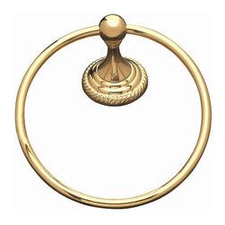 Alno Inc. - Alno Regency 7 Inch Towel Ring Bronze (Imaged in Brass) A9140-Brz - Alno Regency 7 Inch Towel Ring Bronze (Imaged in Brass) A9140-Brz