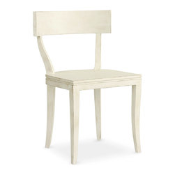 Thomas Side Chair - Raw Cotton - Supple turns are subtly incorporated into the staid simplicity of the Thomas Side Chair's hardwood frame. The Raw Cotton finish of this elegantly minimal chair collaborates with its unadorned design to give a fresh, versatile simplicity, ideal for lending expressive charm to a simple interior or providing a note of continuity in an eclectic setting.