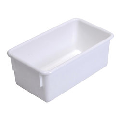"Steffywood - Steffywood Home Plastic Storage Box Cabinet White Tote Tray 13""L X 8""W X 5""H - Plastic, durable tote trays measure 5""H X 8""W X 13""L and fit our 15"" deep storage cabinets. All edges are rounded and smooth. GreenGuard certified.Fits our 15""cabinets. GreenGuard certified. All edges rounded and smooth."
