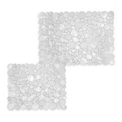 Interdesign - interDesign Bubbli Clear Sink Mats - Bubbli sink mat is a clear but unique design of textured bubbles. Sinks mats help keep items from scratching your sink.