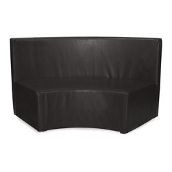 Howard Elliott - Avanti Universal Radius InCurve - Create sleek, modern seating arrangements for bars, lobbies or restaurants with our Radius In-Curve Banquette. It features a dramatic arced shape. Place 2 or more together for a dramatic seating display. Take your seating arrangement a step further by pairing it up with the coordinating Bench and Round Ottoman!