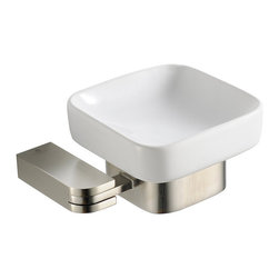 Fresca - Fresca Solido Soap Dish - Brushed Nickel - All of our Fresca bathroom accessories are made with brass with a triple brushed nickel finish and have been chosen to compliment our other line of products including our vanities, faucets, shower panels and toilets.  They are imported and selected for their modern, cutting edge designs.