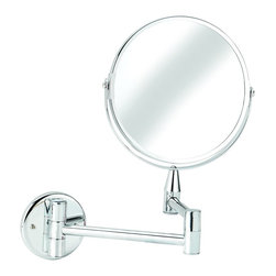 Croydex - Croydex QA103041 Small Round Magnifying Mirror in Chrome - Croydex QA103041 Small Round Magnifying Mirror in ChromeA comprehensive range of bathroom accessories that is ideal for commercial applications such as hotels and housing developments. The stylish design compliments any bathroom setting and the range covers everything from towel racks and toilet roll holders to bottle openers and washing lines for over the bath!Croydex QA103041 Small Round Magnifying Mirror in Chrome, Features:• Durable brass construction with high quality chrome plated finish.