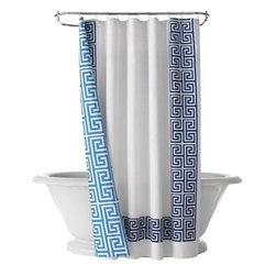 Happy Chic by Jonathan Adler Elizabeth Shower Curtain - I love the unexpected surprise on the back of this shower curtain.