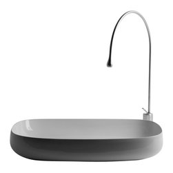 "WS Bath Collections - Seed 70.40  Vessel Bathroom Sink 21.7"" x 15.7"" - Seed 70.40, 21.7"" x 15.7"" x 5.1"", Vessel Bathroom Sink in Ceramic"