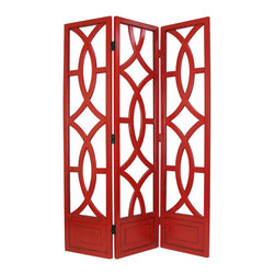 Wayborn - Wayborn Charleston Room Divider in China Red - Wayborn - Room Dividers - 2395R -