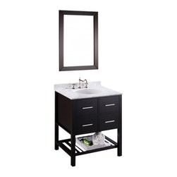 "Bosconi - Bosconi SB-250-1 30"" Contemporary Single Vanity - Bosconi SB-250-1 30"" Contemporary Single Vanity"
