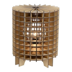 ParrotUncle - Wood Cube Cage Table Lamp - Wood Cube Cage Modern Designer Table Lamp