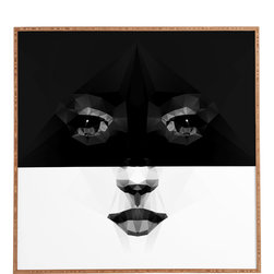Three Of The Possessed Luna Framed Wall Art - Bamboo frame with high gloss print