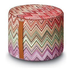 Missoni Home - Missoni Home | Oketo Vivid Cylinder Pouf - Design by Rosita Missoni, 2013.