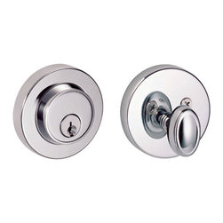 South Beach Deadbolt Lock - With a modern stepped look, this deadbolt is made for homeowners that desire a contemporary feel for their home.