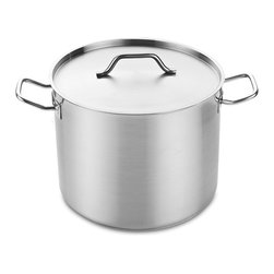 Cooks Standard - Cooks Standard Professional Grade Stockpot with Lid, 60-Quart,NC-00333 - What's in a box: 60QT (Quart) Stockpot with Lid, Cooks Standard Professional Grade Stainless Steel Stockpot with Lid, Heavy-Duty, 18-8 Stainless Steel, Induction Ready, 3-PLY bottom with 5MM thick aluminum core.