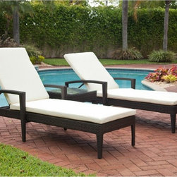 Source Outdoor - Source Outdoor Zen All Weather Wicker Chaise Lounge Multicolor - SO-001-31 - Shop for Chaise Lounges from Hayneedle.com! Additional features:Choice of Sunbrella fabrics or quick-ship ivory polyesterBuilt for the outdoors but easily transitions indoorsPerfect for the poolside - simply hose off to cleanSeat height: 15 inchesWeight: 40 lbs.Weight capacity: 250 lbs.Ships fully assembled3-year manufacturer's warranty for material and workmanshipPolyester cushion comes with 1-year warrantySunbrella fabric options with 5-year fade warranty When you settle into the Source Outdoor Zen All Weather Wicker Chaise Lounge you're settling for nothing less than complete relaxation and unmatched luxury! Recline the adjustable back just the way you want to enjoy maximum lumbar support even as the generous seat and thick seat pad envelop you in complete comfort. Available in fine Sunbrella fabrics or quick-shipping ivory polyester fabric the seat pad will beautifully complement all outdoor settings. Not to be outdone in the style department this chaise lounge enhances any setting with its clean lines contemporary design and upscale elegance. What's more its stackable design makes off-season storage a breeze.With durable all-weather Dura-Weave resin wicker over a fully-welded powder-coated aluminum frame this chaise lounge makes a great addition to your poolside or outdoor seating area but can easily transition to your indoor living space as well. The rich dark brown Espresso finish which is saturated through the weave complements most color schemes and adds a warm feel to any setting even as it continues to look like new season after season. Cleaning this chaise lounge is as simple as spraying it down with your garden hose or wiping it with a solution of mild dish soap and water.Please note: Ivory color polyester fabric cushion options are Quick Shipped while Sunbrella fabric cushion options take slightly longer to ship as they are made to order.About Dura-Weave: Dura-Weave is made of superior-quality high density polyethylene (HDPE) which offers the right blend of tensile strength; bending properties necessary for weaving outdoor wicker. HDPE's superior weather and chemical resistance makes Dura-Weave suitable for all applications and ideal for outdoor usage. Dura-Weave is weather-resistant UV-resistant and available in a wide variety of colors and styles. All Dura-Weave is put through a vigorous 3000 hour UV light test which makes it extremely durable producing beautiful and elegant outdoor furniture. In addition Dura-Weave is also suitable for interior applications.About Sunbrella: Sunbrella has been the leader in performance fabrics for over 45 years. Impeccable quality sophisticated styling and best-in-class warranties prove the new generation of Sunbrella offers more possibilities than ever. Sunbrella fabrics are breathable and water-repellant. If kept dry they will not support the growth of mildew as natural fibers will. Beautiful and durable Sunbrella is a name you can trust in your outdoor furniture.About Source OutdoorCommitted to providing quality outdoor furniture to its customers all over North America Source Outdoor showcases the latest styles in outdoor synthetic wicker. Operating out of a 60 000 sq. ft. warehouse Source Outdoor manufactures outdoor resin wicker furniture to hospitality-grade standards and takes great pride in quality and customer service. A name to reckon with in the patio furniture industry Source Outdoor is fast becoming synonymous with stylish outdoor wicker patio furniture that offers uncompromising quality and lasting function.