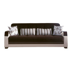 Istikbal - Natural Colins Brown Sofa Sleeper - Natural Colins Brown 3 Seat Sleeper conceived to give the best comfort and be always stylish. Click Clack mechanism which easily let the sofa convert into a full or double bed. The deep seating cushion will provide plenty of comfort.