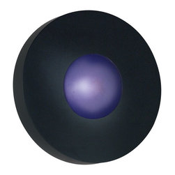 Kenroy Home - Kenroy Home Burst Round Wall Sconce/Flush Mount 12 in. Black - 72824BL - Shop for Wall Mounted from Hayneedle.com! Indoors or out wherever you need smart contemporary light: the Kenroy Home Burst Round Wall Sconce flush-mounts on your wall or ceiling casting clear and efficient halogen light on your hallway media room artwork or patio. All Burst series sconces include both a White Opal and Cobalt Blue convex glass so you can mix match or redecorate. The quality all metal frame is finished in satin black. Uses one 75W JE-E11 halogen candelabra bulb which is included.About Kenroy HomeEmployee-owned Kenroy Home creates a large range of lighting and home decor products. Having recently purchased Hunter Lighting Group Kenroy Home is now positioned to expand their product lines and take their customer focus to the next level. With an experienced team and advanced equipment Kenroy Home provides an unparalleled spectrum of products and services. Trained designers and technicians create functional works of art that exceed appearance and performance expectations. Their craftsmanship matches materials and finishes to each application for showroom quality at superior values. Product collections are designed to facilitate mix-and-match coordination.