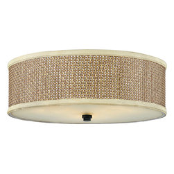 Quoizel Traditional/ Classic Three-Light Down Lighting Large Flushmount - This ceiling fixture would bring great texture to a neutral room. I love the basket-weave look.