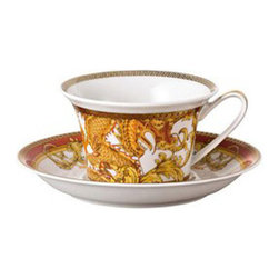 Versace - Versace Asian Dream Tea Cup - Versace Asian Dream Tea Cup    ***   Since the late 1970s the Versace brand has been synonymous with Italian luxury. For over 30 years their products have been known for uncompromising design as well as their sensual style and peerless craftsmanship. Many of our Versace Italian dinnerware sets are adorned with the famous medusa logo and offer a touch of Italian fashion and luxury to any meal. Shop our selection today to find a new porcelain dinner service that's sure to impress even the most persnickety guest.