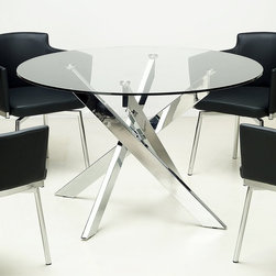 Glass Top Chrome Dining Table Dining Tables Find Square