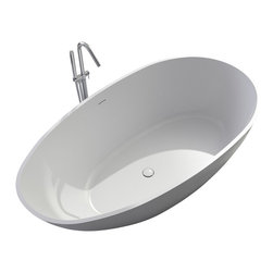 ADM - ADM Matte White Stand Alone Resin Bathtub - SW-149