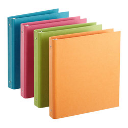 Bright Stockholm Binder - These solid binders come in juicy colors that would add a bright splash of organization to your media room.