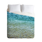 DENY Designs - Shannon Clark Ombre Sea Duvet Cover - Turn your basic, boring down comforter into the super stylish focal point of your bedroom. Our Luxe Duvet is made from a heavy-weight luxurious woven polyester with a 50% cotton/50% polyester cream bottom. It also includes a hidden zipper with interior corner ties to secure your comforter. it's comfy, fade-resistant, and custom printed for each and every customer.