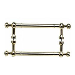 Top Knobs - Somerset Weston Back to Back Door Pull - Polished Brass (TKM828-8 pair) - Somerset Weston Back to Back Door Pull - Polished Brass