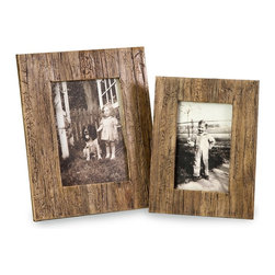 Havana 4x6 and 5x7 Frames - Set of 2 - *The set of two Havana frames are a natural, attractive set of frames made from pressed water hyacinth.