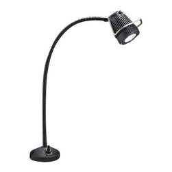 Kichler 1-Light Landscape Fixture - Black Material Exterior - One light landscape fixture. MR 11 barbecue light - integrated surface mount bbq light for direct connection to 12-v landscape lighting system for rail or outdoor countertop mount only.