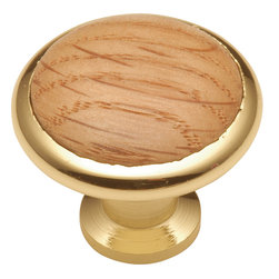 Hickory Hardware - Hickory Hardware 1-3/8 In. Wood grain Oak Cabinet Knob - Bridges contemporary and traditional design.  Offering a deep rooted sense of history in some, with an updated feel and cleaner lines.  Crate & Barrel and Pottery Barn could be considered transitional looks.