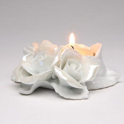 ATD - 4 Inch Decorative Rose Flower Porcelain Tealight Candle Holder - This gorgeous 4 Inch Decorative Rose Flower Porcelain Tealight Candle Holder has the finest details and highest quality you will find anywhere! 4 Inch Decorative Rose Flower Porcelain Tealight Candle Holder is truly remarkable.