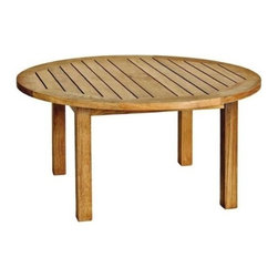 """Canterbury Teak 36"""" Round Coffee Table - Guests will probably notice and ask you, �Where did you get that wonderful   coffee table?� It could be your little secret, or you can tell everyone what a   great find this Teak Canterbury Round Coffee Table was for you. The low profile   is fashionable and relaxed, just like our"""